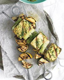 Fast and Easy Recipe For Tofu Kebabs With Cilantro Sauce