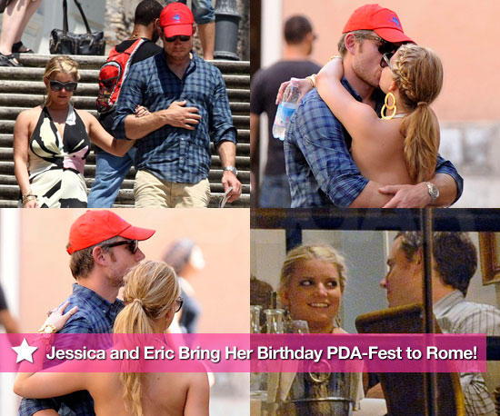 Pictures of Jessica Simpson and Boyfriend Eric Johnson in Rome