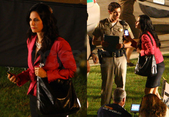 Pictures of Courteney Cox and Adam Brody Filming Scream 3