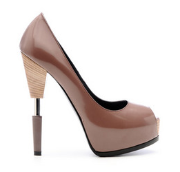 Can't you see Victoria Beckham loving this Ruthie Davis Steel Rod Pump (call for price)? Let's just hope she doesn't fall on that steel rod.
