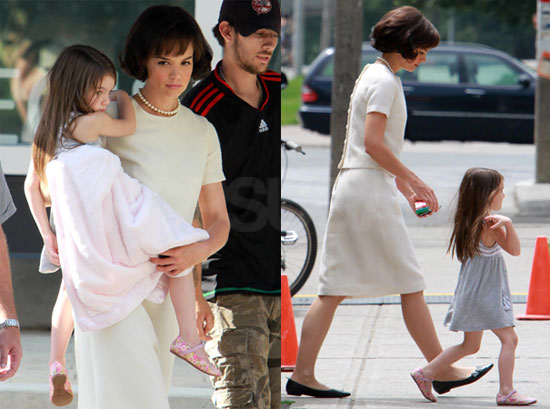 Pictures of Katie Holmes as Jackie Kennedy in Toronto With Suri