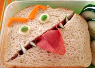 Funny Face Sandwiches For Kids