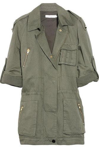 Sandro|Cotton and linen-blend army jacket|NET-A-PORTER.COM 655