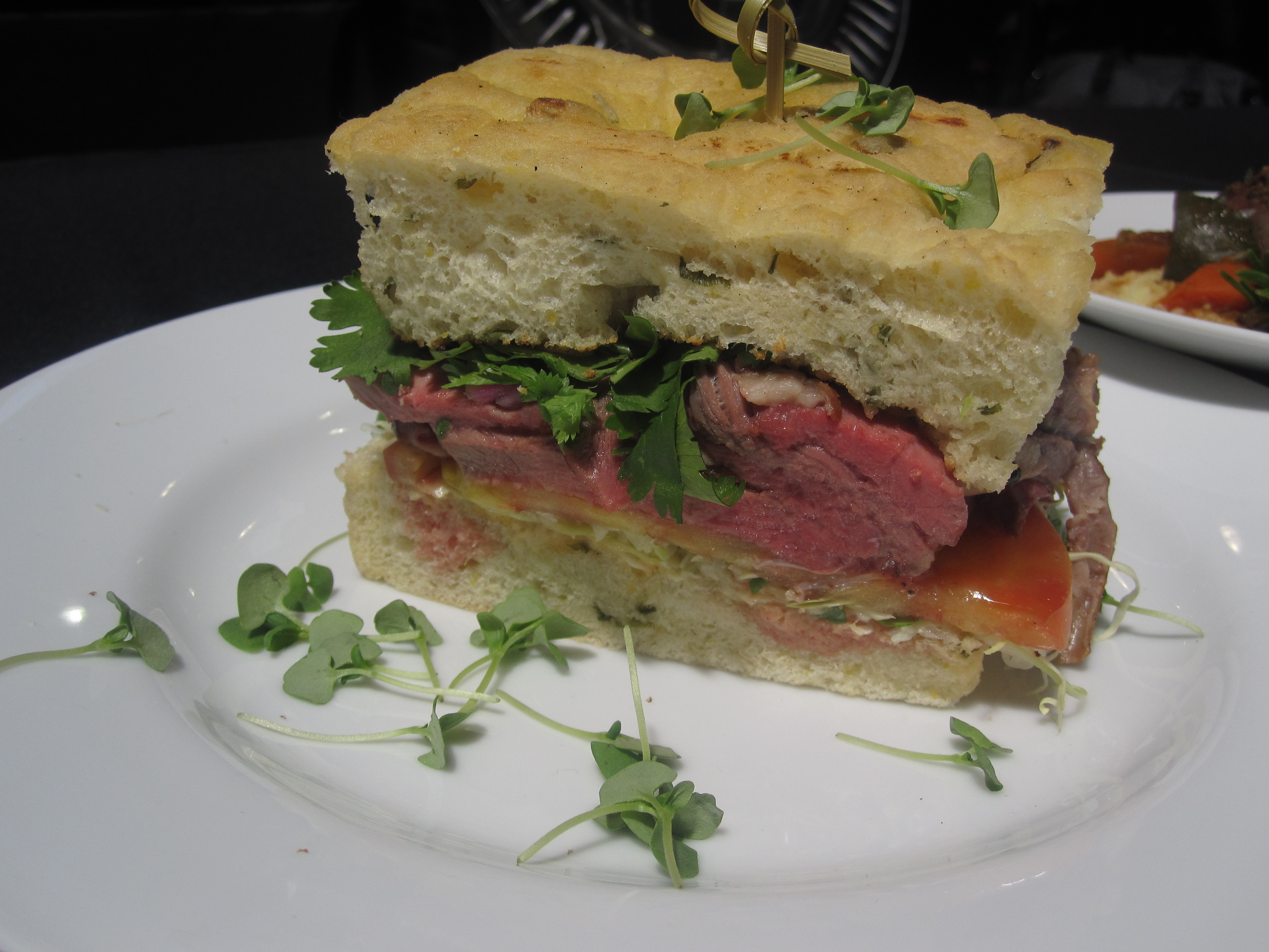 Although this red curry leg of lamb sandwich looks good, it was far too salty for my liking.