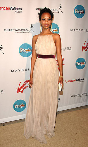 Zoe wore an ethereal gown to People en Español's fifth annual 50 Most Beautiful event in '06.