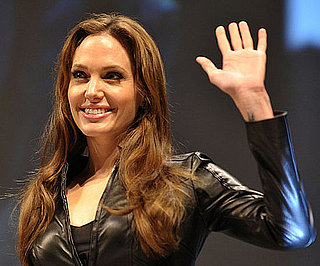 Slide Picture of Angelina Jolie at Salt Panel at Comic-Con