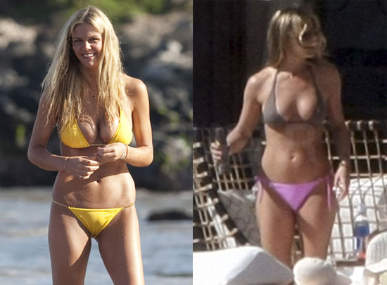Pictures of Jennifer Aniston and Brooklyn Decker in Bikinis