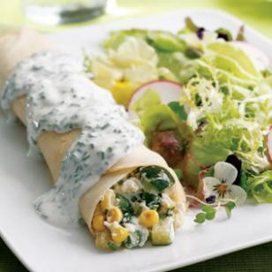 Summer Vegetable Crepes Recipe