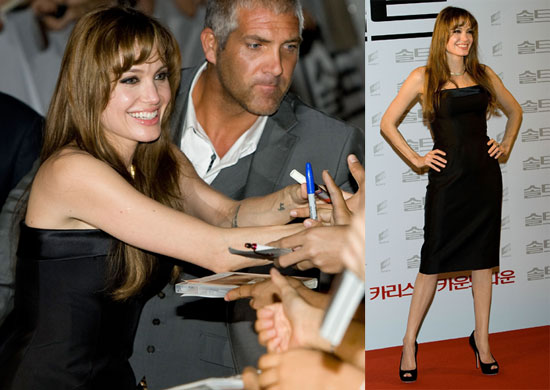 Pictures of Angelina Jolie at the Seoul Premiere of Salt