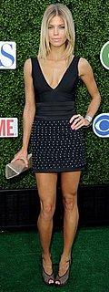 AnnaLynne McCord Wears a Rock and Republic Dress and Christian Louboutin Pumps