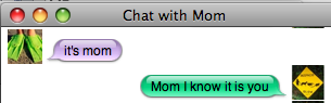 iChat: It's Mom
