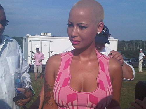 amber rose at hamptons polo