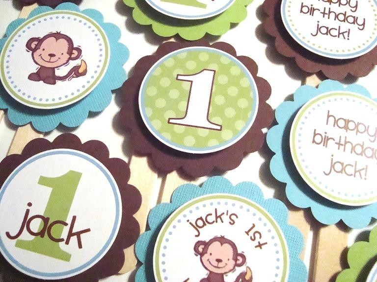 Monkey Cupcake Toppers ($10)