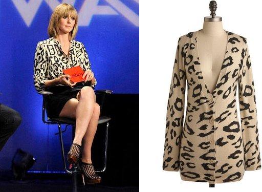 Heidi Klum Wears Oversized Leopard Print Chloé Top on Project Runway