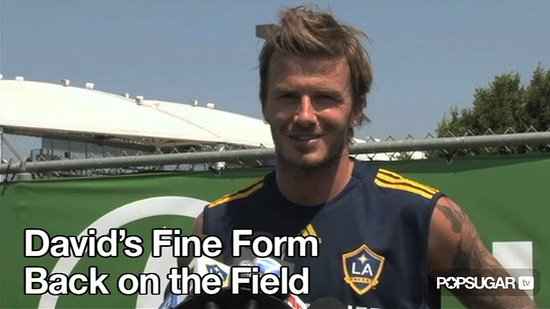 Video of David Beckham Practicing With the LA Galaxy
