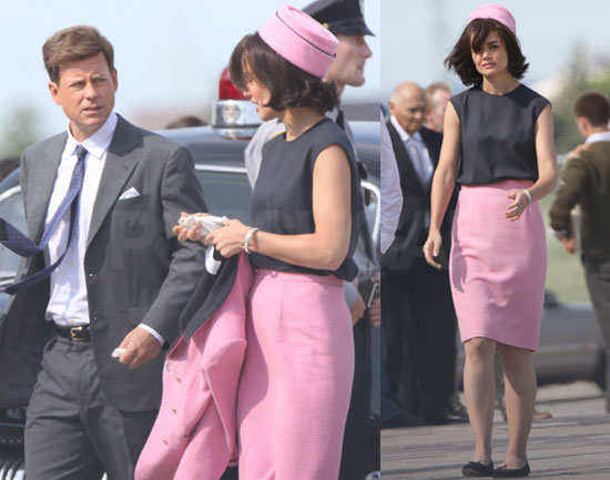 Pictures of Katie Holmes as Jackie Kennedy With Greg Kinnear