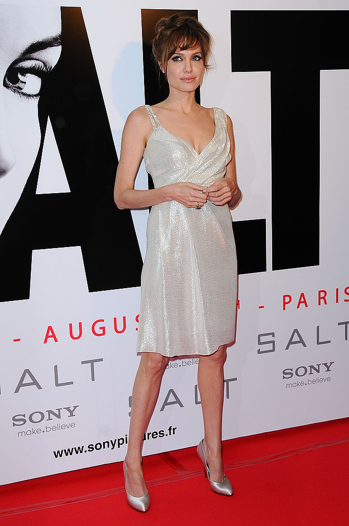 Angelina Jolie at Paris Photocall for Salt