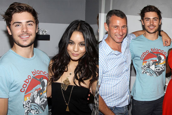 Pictures of Zac Efron and Vanessa Hudgens Backstage at Memphis 2010-08-18 11:30:00
