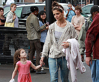 Slide Picture of Katie Holmes and Suri Cruise in Toronto