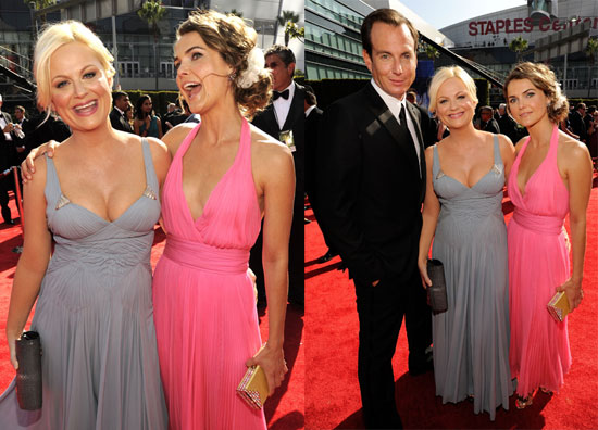 Keri Russell, Amy Poehler and Will Arnett at the 2010 Primetime Emmy Awards