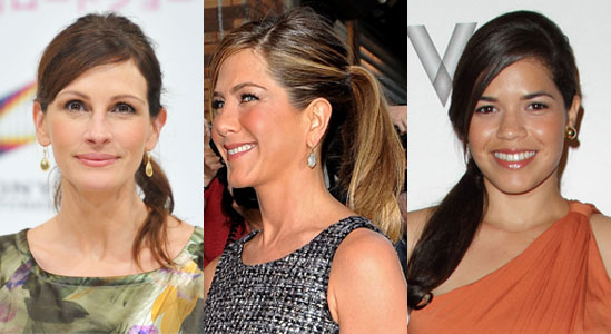 Pictures of Celebrities Wearing Ponytails 2010-08-23 12:00:19
