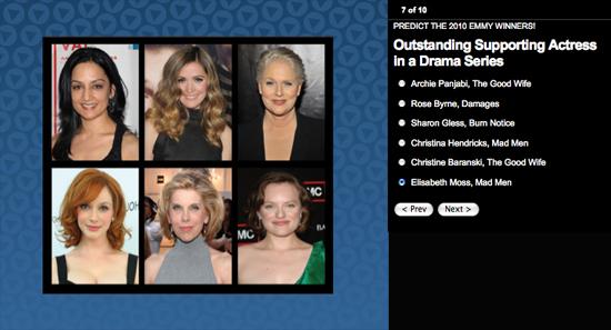 Emmy Awards Ballot