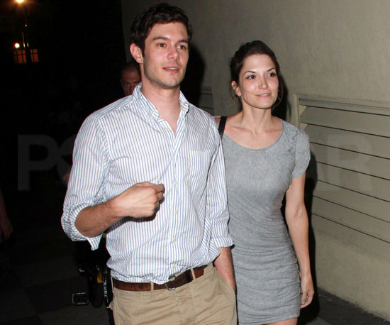 Slide Picture of Adam Brody With Girlfriend in LA