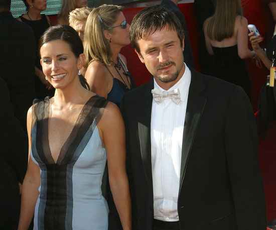 Courteney Cox and husband David Arquette walked the red carpet together at the 2003 Emmys.
