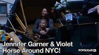 Video of Jennifer Garner and Violet Affleck Carriage Ride in New York