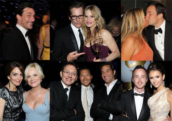 Jon Hamm, Jimmy Fallon, Nina Dobrev, Kyra Sedgwick and Tina Fey at the Emmy Awards Governor's Ball
