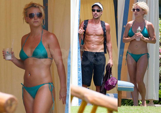 Pictures of Britney Spears in a Bikini on Vacation With Shirtless Jason Trawick