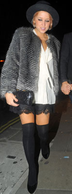 Peaches Geldof Wears Fur in London