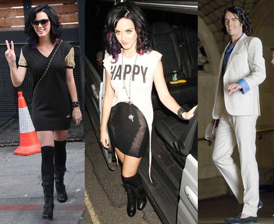 Pictures of Katy Perry Partying in London and Russell Brand Filming Arthur in NYC