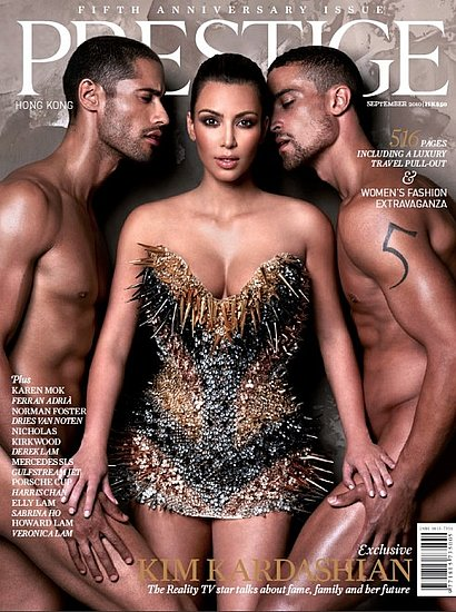 Kim Kardashian covers Prestige-september 2010