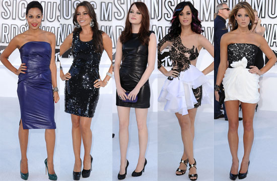 Pictures of Katy Perry, Audrina Patridge, Lo Bosworth, Stephanie Pratt, Selena Gomez, Emma Stone, Lady Gaga at 2010 MTV VMAS