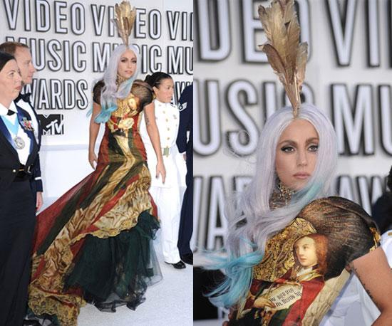 Lady Gaga Wears Alexander McQueen at 2010 MTV VMAs