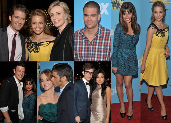 Photos de Lea Michele, Chris Colfer, Jane Lynch, Matthew Morrison, et des acteurs de Glee a l avant premiere de la saison 2