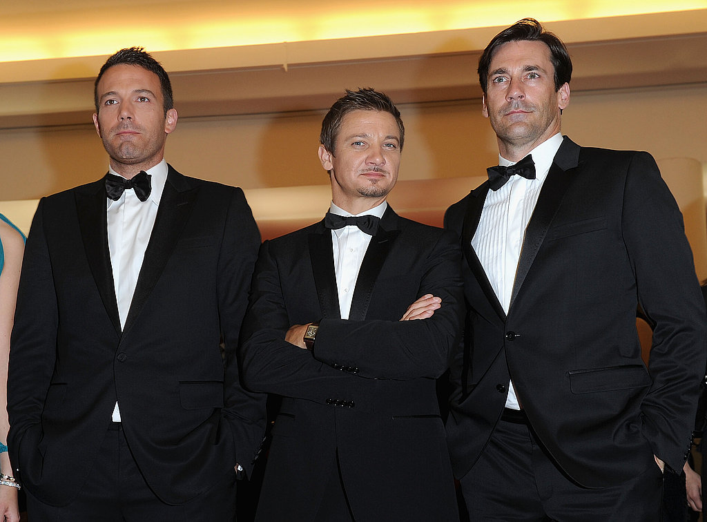 Ben Affleck, Jeremy Renner and Jon Hamm at the Premiere of The Town in Venice