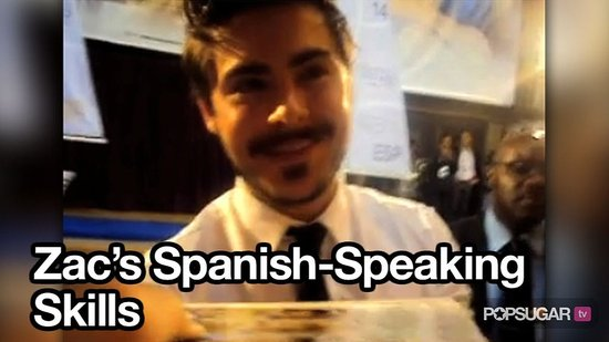 Video of Zac Efron Speaking Spanish in Madrid For Charlie St. Cloud