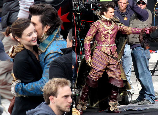 Pictures of Orlando Bloom, Milla Jovovich, and Christoph Waltz on the Set of The Three Musketeers 2010-09-16 15:30:00