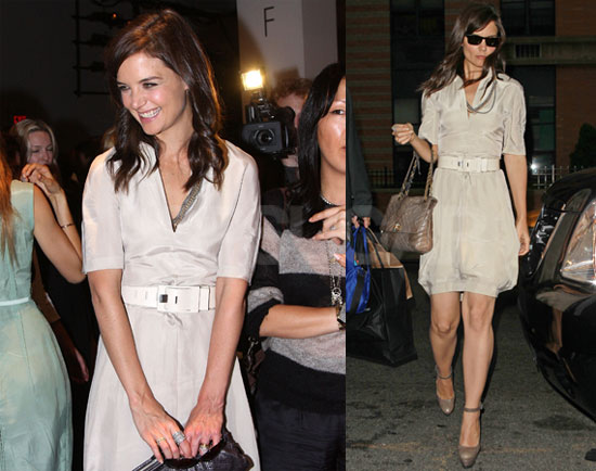 Pictures of Katie Holmes in New York During Fashion Week 2010
