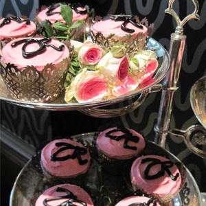 Zandra Rhodes Designs London Fashion Week Cupcake