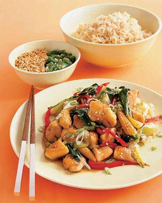 Recipe For Chicken-Sesame Stir-Fry