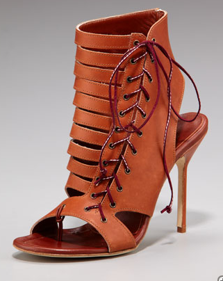 Manolo Blahnik Lace-Up Bootie ($1,145)