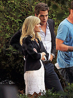Pictures of Chris Pine and Reese Witherspoon Filming This Means War in Vancouver