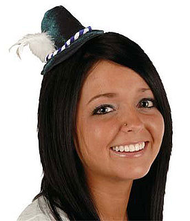 Tiny Alpine Hat Hair Clip For Oktoberfest