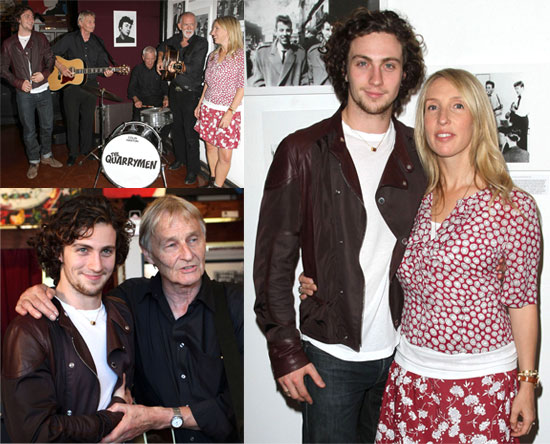 PIctures of Sam Taylor-Wood and Aaron Johnson Out in LA at John Lennon Photography Exhibition
