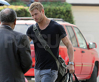 Slide Picture of Kellan Lutz With Bag in LA