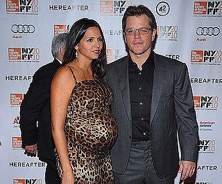 Slide Picture of Matt Damon and Pregnant Luciana at Hereafter Premiere