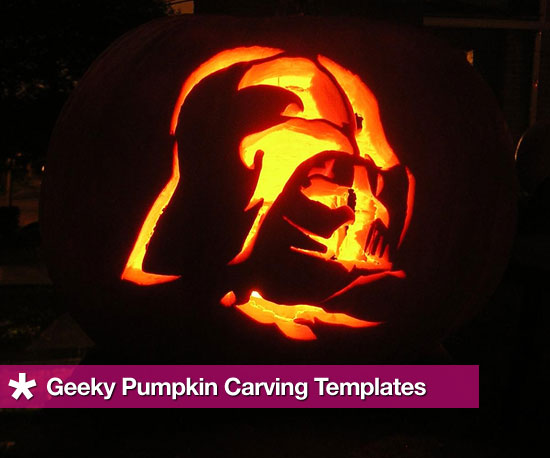 Geeky halloween pumpkin carving templates popsugar tech